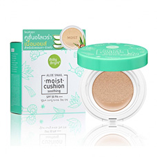 Aloe Snail Moist Cushion SPF50 PA+++ Baby Bright #23 Natural Bright 15 gr. Thailand