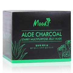 Гидрогелевые патчи для глаз из Тайланда с алоэ и бамбуковым углем MOODS ALOE CHARCOAL STARRY MULTIPURPOSE JELLY MASK 60 шт