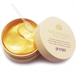 PETITFEE Gold and Snail Hydrogel Eye Patch 60 patches. Korea. Petitfee Gold & Snail Hydrogel Eye Patch