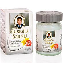 Тайский белый согревающий бальзам ВАНГПРОМ Wang Prom. White Thai warming balm BANGPRA Wang Prom