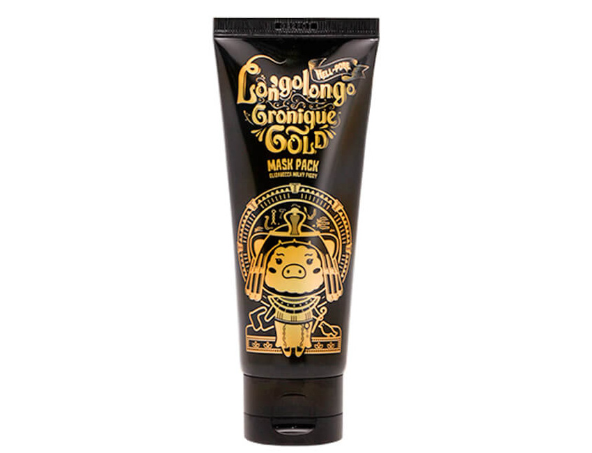 Золотая омолаживающая маска-пленка из Кореи ELIZAVECCA LONGOLONGO GRONIQUE GOLD MASK PACK 100 мл. maska-plyonka-elizavecca-hell-pore-longolongo-gronique-gold-mask-pack